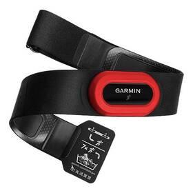 Hrudníkový pás Garmin HRM RUN2 pro běh s měřením běžecké dynamiky (010-10997-12) čierny/červený