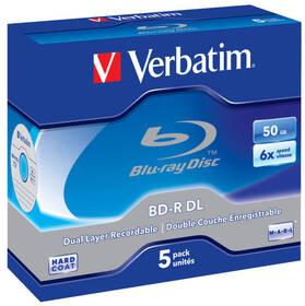 Disk Verbatim BD-R DL 50GB, 6x, jewel, 5ks (43748)