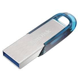 USB flash disk Sandisk Ultra Flair 128GB (SDCZ73-128G-G46B) strieborný/modrý