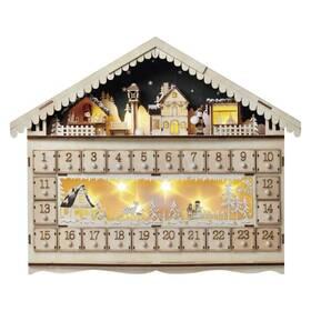 LED dekorace EMOS adventní kalendář, 19x40cm, 2x AA, vnitřní, teplá bílá (1534231500)