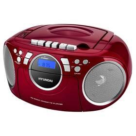 Rádiomagnetofón s CD Hyundai TRC 788 AU3RS strieborný/červený