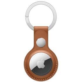 Apple AirTag kožená kľúčenka - sedlovo hnedá