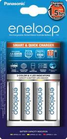 Nabíjačka Panasonic Eneloop Smart-Quick Charger pro AA,AAA + 4x Panasonic Eneloop 1900mAh (K-KJ55MCC40E) biela