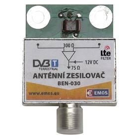 Zosilňovač EMOS anténní předzesilovač 30dB VHF/UHF (2507100700)