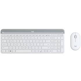 Klávesnica s myšou Logitech Wireless Combo Slim MK470 (920-009205) biela