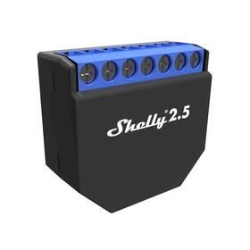 Modul Shelly 2.5, spínací/žaluziový modul s měřením spotřeby 2x 10A, WiFi (SHELLY-2-5)