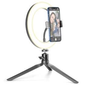 Svetlo CellularLine Selfie Ring s LED osvětlením pro selfie fotky a videa (SELFIERINGK) čierne