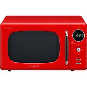 Mikrovlnná rúra Philco Retro PMD 205 R červená