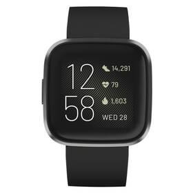 Inteligentné hodinky Fitbit Versa 2 (NFC) - Black/Carbon (FB507BKBK)