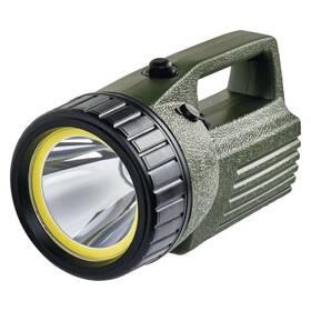 Lampáš EMOS 10W COB LED + LED, 380 lm, aku 4000 mAh (1433010070) čierna/zelená