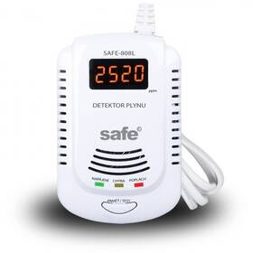 Detektor plynov Safe 808L hlásič zemního plynu (SAFE 808L)