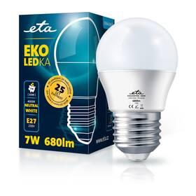 LED žiarovka ETA EKO LEDka mini globe 7W, E27, neutrálna biela (G45W7NW)