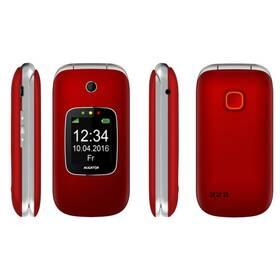 Mobilný telefón Aligator V650 Senior (AV650RS) strieborný/červený
