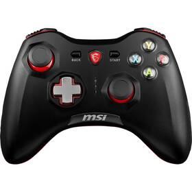 Gamepad MSI Force GC30, bezdrátový, pro PC, PS3, Android (S10-43G0010-EC4) čierny