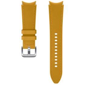 Remienok Samsung Galaxy Watch4 Classic 46mm, hybridní kožený (20 mm, M/L) (ET-SHR89LYEGEU) hnedý