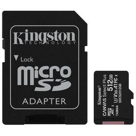 Pamäťová karta Kingston Canvas Select Plus MicroSDXC 512GB UHS-I U1 (100R/85W) + adapter (SDCS2/512GB)