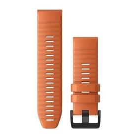 Remienok Garmin QuickFit 26mm pro Fenix5X/6X, silikonový, oranžový, černá přezka (010-12864-01)