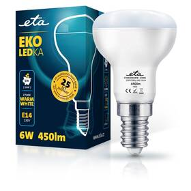 LED žiarovka ETA EKO LEDka reflektor 6W, E14, teplá biela (R50W6WW)