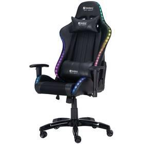 Herná stolička Sandberg COMMANDER RGB (640-94) čierna