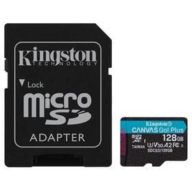 Pamäťová karta Kingston Canvas Go! Plus MicroSDXC 128GB UHS-I U3 (170R/90W) + adaptér (SDCG3/128GB)