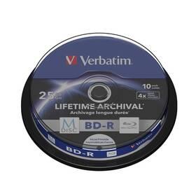Disk Verbatim Printable BD-R M-Disc 25GB, 4x, 10-cake (43825)