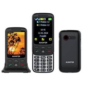 Mobilný telefón Aligator VS 900 Senior Dual SIM (AVS900BS) čierny/strieborný