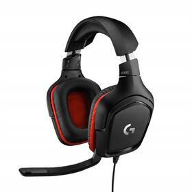 Headset Logitech Gaming G332 (981-000757) čierny/červený