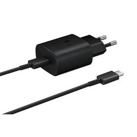 Nabíjačka do siete Samsung EP-TA800, rychlonabíjení, USB-C, 25W, kabel 1m (EP-TA800XBEGWW) čierna