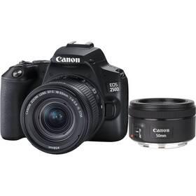 Digitálny fotoaparát Canon EOS 250D + 18-55 IS STM + 50f/1.8 STM (3454C013) čierny