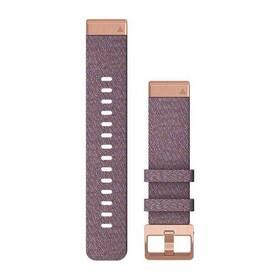 Remienok Garmin QuickFit 20mm pro Fenix5S/6S, nylonový, fialový, zlatá přezka (010-12873-00)