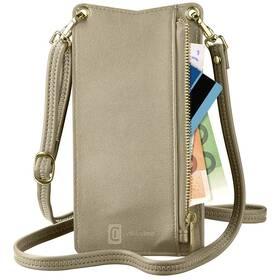 Puzdro na mobil CellularLine Mini Bag na krk (MINIBAGZ) bronzové