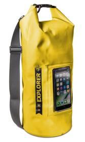 """Celly voděodolný vak Explorer 10L s kapsou na telefon do 6,2"""" - žlutý"""
