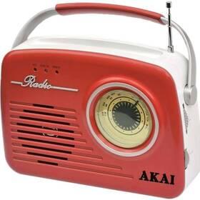 Rádioprijímač AKAI APR-11 červený