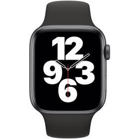 Inteligentné hodinky Apple Watch SE GPS 44mm púzdro z vesmírne sivého hliníka - čierny športový náramok (MYDT2VR/A)