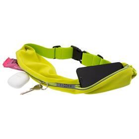 Puzdro na mobil športové FIXED Sportbelt Duo se dvěmi kapsami (FIXSB-DU-LM) zelené