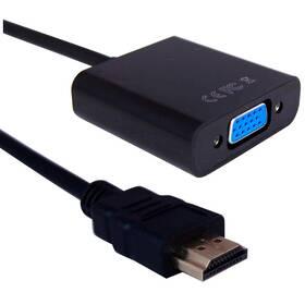 Redukcia GoGEN HDMI/VGA, 0,2m (HDMIVGAMF01) čierna