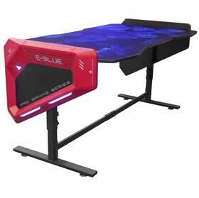 Herný stôl E-Blue 165x88 cm, RGB podsvícení, výškově nastavitelný, s podložkou pod myš (EGT003BKAA-IA) čierny/červený