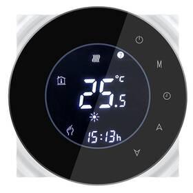 Termostat iQtech SmartLife GALW-B, WiFi termostat pro kotle s potenciálovým spínáním (IQTGALW-B) čierny