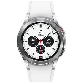 Inteligentné hodinky Samsung Galaxy Watch4 Classic 42mm (SM-R880NZSAEUE) strieborné