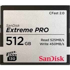 Pamäťová karta Sandisk Extreme Pro CFast 2.0 512 GB (525R/450W) (SDCFSP-512G-G46D)