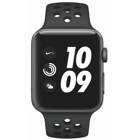 Inteligentné hodinky Apple Watch Nike+ Series 3 GPS 42mm púzdro z vesmírne šedého hliníka - antracitový/čierny športový remienok Nike (MTF42CN/A)