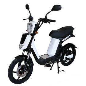 Elektrická motorka RACCEWAY E-Babeta E-BABETA, bílý-matný biela farba