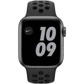 Inteligentné hodinky Apple Watch Nike SE GPS 40mm púzdro z vesmírne sivého hliníka - antracitový/čierny športový náramok Nike (MYYF2VR/A)