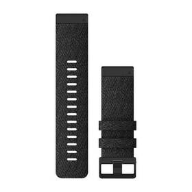 Remienok Garmin QuickFit 26mm pro Fenix5X/6X, nylonový, černý, černá přezka (010-12864-07)