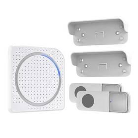 Zvonček bezdrôtový Solight 1L67DT 2 tlačítka, do zásuvky, 200m, learning code (1L67DT) biely