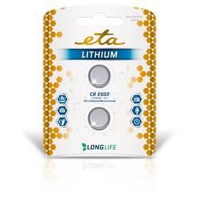 Batéria lítiová ETA PREMIUM CR2032, blister 2 ks (CR2032LITH2)