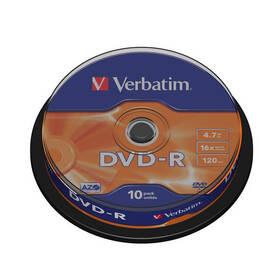 Disk Verbatim DVD-R 4,7GB, 16x, 10cake (43523)
