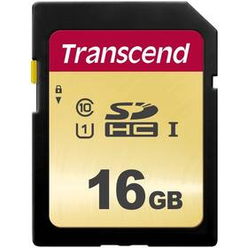 Pamäťová karta Transcend 500S SDHC 16GB UHS-I U1 (Class 10) (95R/60W) (TS16GSDC500S)