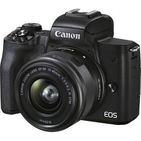Digitálny fotoaparát Canon EOS M50 Mark II + EF-M 15-45 + SB130 + 16GB (4728C056) čierny
