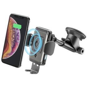 Držiak na mobil CellularLine Pilot Instant, bezdrátové nabíjení (PILOTINSTWIRK) čierny